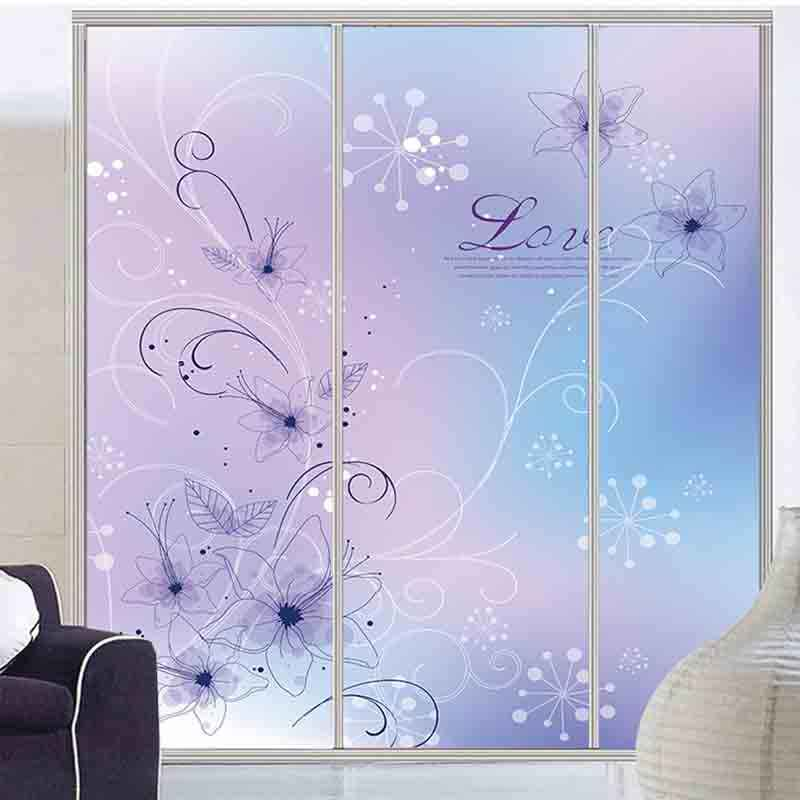Customized Fashion Flower Glass Film Refrigerator