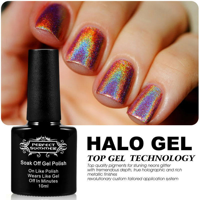Perfect Summer UV Gel Nail Polish High Quality Soak off Gel 10ml 20 Colors for Choose Newest Style Halo Nail Art Gel жидкость domix green professional nail gel polish remuver