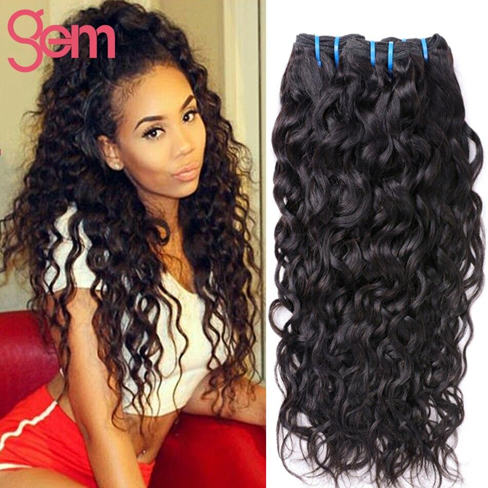 3 Bundles Peruvian Virgin Hair Water Wave Wet And Wavy Human Curly Iwish Rosa Ocean Weave