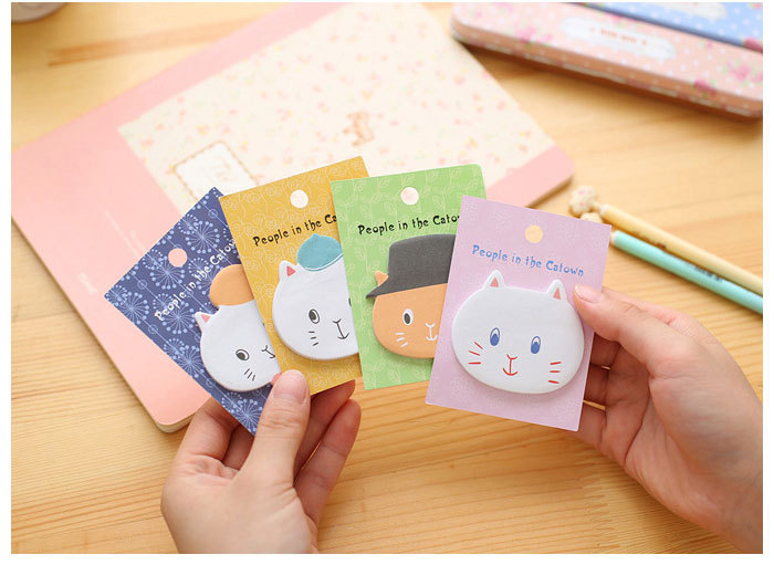 Lovely cat sticky notes people in the catown Memo Pad post it Note Sticker Pads Korean Stationery office supplies papelaria
