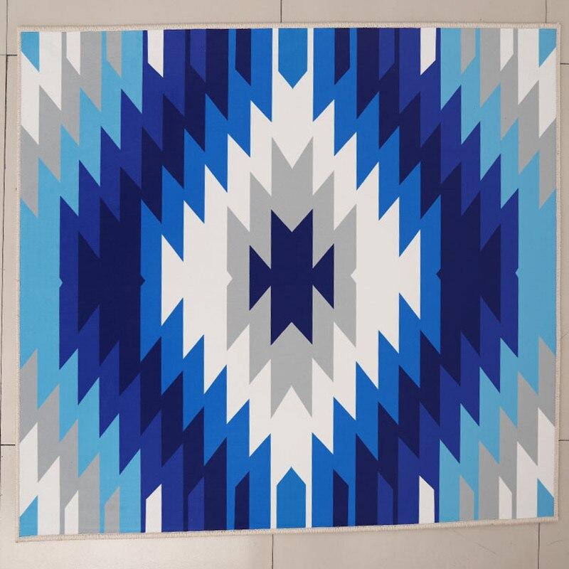 Современные Простые геометрические ковры гостиная, спальня 3D принт ковер журнальный столик кабинет прикроватная коврик/ковры украсить дом