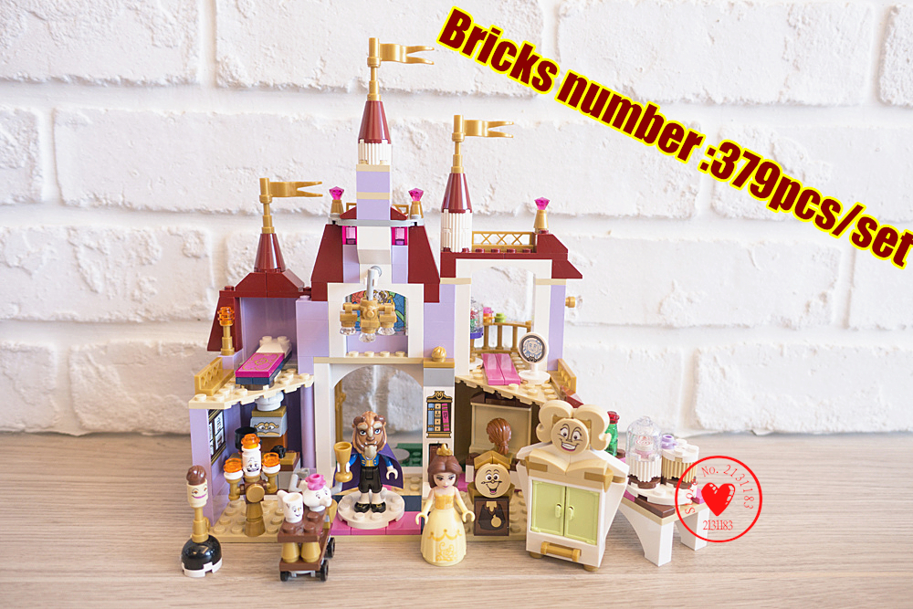 Princess Belles Enchanted girl Castle Model Building kits Blocks Girl Friends Toys Compatible with lego Kid gift set 472pcs set banbao princess series castle building blocks girl friends favorite scene simulation educational assemble toys
