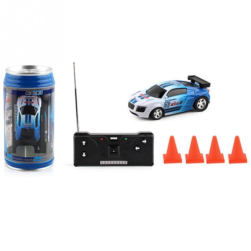 Electric Cans Shape Remote Control Car Mini Canned Wireless Car With Light Roadblock RC Car