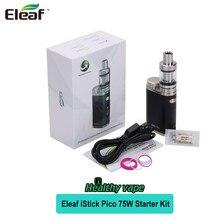 Аутентичные Eleaf iStick Пико TC 75 Вт Starter Kit Электронной жидкости емкостью 2 мл