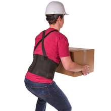 все цены на Men Women Lumbar Back Support Belt Medical Back Pain Relief Corrector Brace Elastic Waist Support Brace Spine Back Protector онлайн