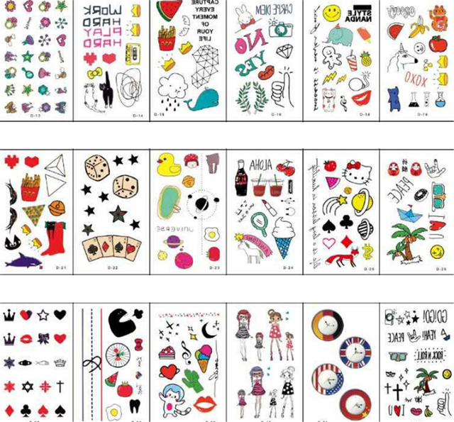 6af2c52d7897f 5 sheets Watercolor Animal Flower Waterproof Temporary Tattoo Stickers For  Adults Kids Body Art Fake Tatoo For Women Men Tattoos