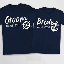 custom Nautical Cruise Wedding Mr and Mrs T Shirts Bride Groom T-Shirt  Honeymoon Marriage Gifts Marriage TShirt tanks tops tees 041f07f5ac11