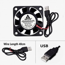 2pcs/lot GDT 4010S Micro 40x40x10mm 40mm DC Brushless Cooling Fan 5V USB Connector 9 Blades