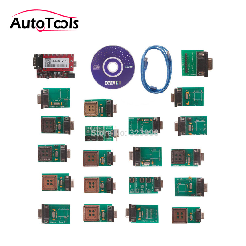 Quality A+++ UPA USB v1.3 Programmer with Full Adaptors ECU Chip Tunning OBD2 Diagnostic Tool new upa usb 2014 v1 3 0 14 with full adapters upa usb device programmer v1 3 auto ecu tool in stock