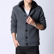 Men's Cardigans Sweater Waistcoat Knit Thicken Full-Sleeve Winter Casual Warm Autumn