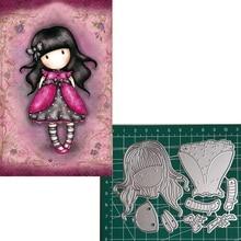 Metal Cutting Dies Little doll Dress 2019 Scrapbooking Craft Cut Stamps Embossing Stencils Invitation Card