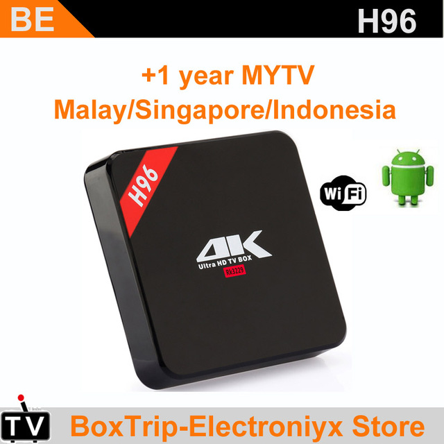 US $35 0 |H96 android box with MYIPTV subcription iptv support Malaysia  Singapore iptv Indonesia Channel Southeast Asia Australia Chinese-in  Set-top
