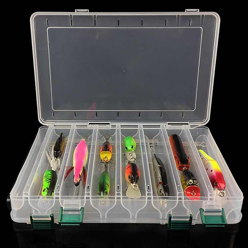 8 Types Waterproof Fishing Tackle Box Plastic Double Side Bait Lure Hooks Storage Boxes Fishing Box for Bait Fishing Accessories
