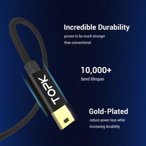Image 5 - TOPK Mini USB kablosu Mini USB USB hızlı veri eşleştirme şarj kablosu için cep telefonu dijital kamera MP3 MP4 oynatıcı tabletler GPS