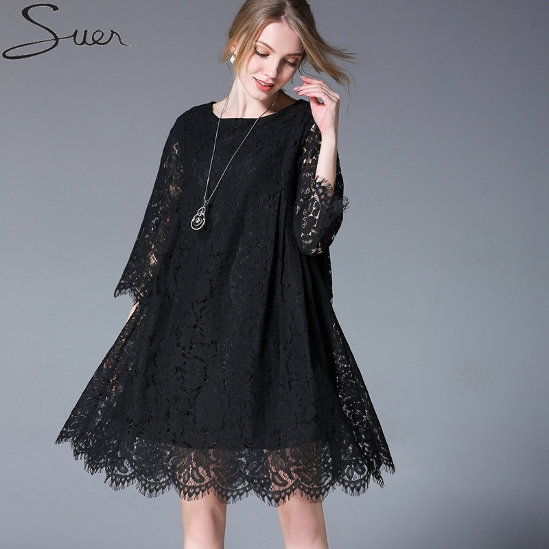 2018 New Maternity Dress Fashion Lace Loose Casual Pregnant Dress Europe And America Style Women Maternity Clothes Vestidos