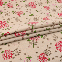 Nanchuang Flower Cotton Linen Fabric Patchwork Cloth For DIY Handmade Hometextile Sewing Sofa Tablecloth Cover Material 50x150cm
