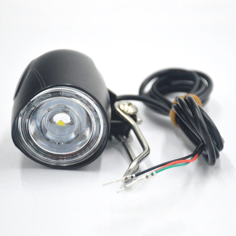 Electric Scooter LED Light Horn Waterproof Flashlight With Horn For Electric Scooter Headlight Front Light Scooter Parts