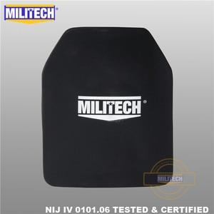 Image 3 - Ballistic Plate Bulletproof Panel NIJ level 4 IV Alumina & PE Stand Alone Two PCS 10x12 Inches Light Weight Body Armor  Militech
