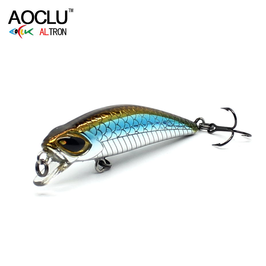 AOCLU wobbler Jerkbait 10 Colors 4.5cm 3.0g Hard Bait Minnow Crank Fishing lures Bass Fresh Salt water 14# VMC hooks tackle