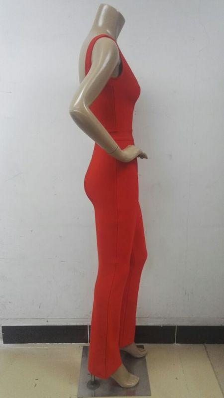 Mode Femmes Bandage Body Salopette Vêtements Bretelles Moulante 2017 De Cou Barboteuse Rouge Élégant V qaS18xWvf