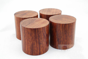 Image 2 - 4PCS Rosewood HiFi Audio Speakers Amplifier Chassis Anti shock Shock Absorber Foot Feet Pads Vibration Absorption Stands 45*45mm