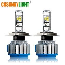 Cnsunnylight H4 H13 Hi/lo автомобиля светодиодные фары высокой Мощность HB2 9003 9007/HB5 9004/HB1 40 Вт X2 белый 6000 К лампы заменить би ксеноновая лампа