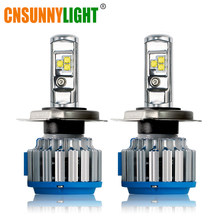 CNSUNNYLIGHT H4 Hi/lo H7 H11 9006 Car LED Headlight 9005 HB3 HB4 H1 H13 High Power Super White 6000K Bulbs Replace Original Lamp(China)