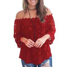 2019 New Yfashion Women Sexy Lace Off Shoulder Tops Top Selling