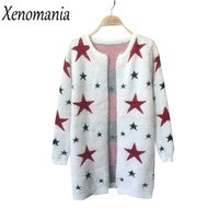 Mohair Cardigan Christmas Sweater With Deer Knitted Cardigan Women 2017 Korean Pull Femme Female Cardigans Winter