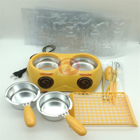 220V Yellow Household Mini Chocolate Soap Furnace Chocolate Melting Furnace Electric Chocolate Pot Chocolate Fondue Machine
