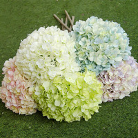 Simulation Bouquet Wholesale Large Bella Hydrangea Window Decoration Fake Flowers Wedding Supplies A Variety Of Colors