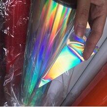 50 см* 50 см(20 ''x 20'') Голографическая виниловая ткань, материал для рукоделия, виниловая искусственная синтетическая ткань для автомобиля, на клейкой основе