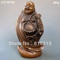 Ev ve Bahçe'ten Statü ve Heykelleri'de Wang 000117 Çinli Bronz Heykelleri w Gülüyor Buda