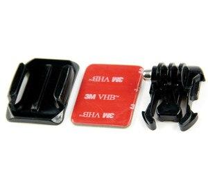 Image 5 - SnowHu per accessori GoPro supporto per casco curvo + 3M adesivo fibbia supporti curvi di base per Gopro Hero 9 8 7 6 Yi 4K GP13