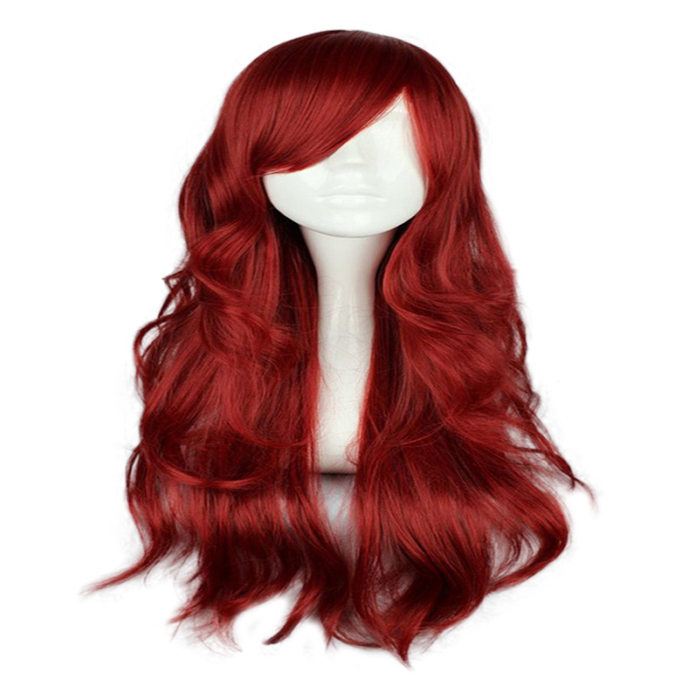 HAIRJOY Synthetic Hair Zipper 70cm Long Wavy Harajuku Lolita Cosplay Wig 18 Colors Available 5