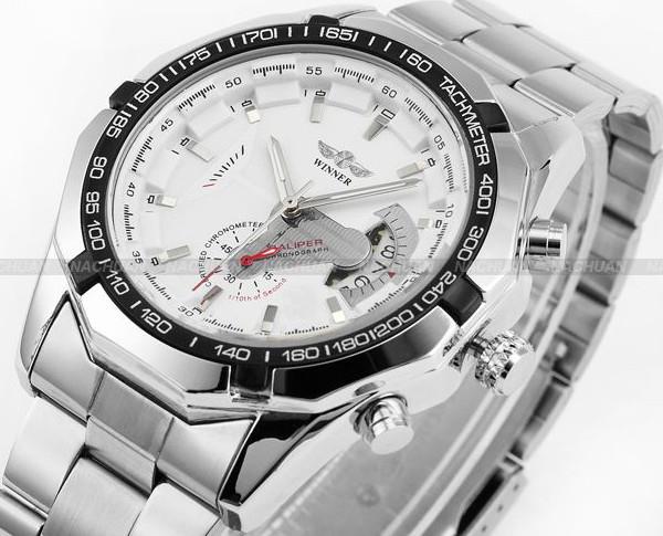 2018 Fashion Men montre Winner Brand horloges mannen Stylish Skeleton Classic Automatic relogios clock men Mechanical Watch 5