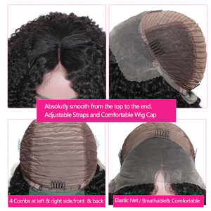 Image 4 - Nadula Hair 13*4 Short Bob Mongolian Kinky Curly Hair Wigs for Women Kinky Curly Lace Front Human Hair Wig Bob Lace Front Wig