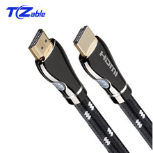 HDMI Cable 2.0 Gold Plated 4K 18Gbps 3D Extension Cables With Audio Video Wire 1m 1.5m 2m 3m 5m 8m 10m 15m Black white Braid new arrival pro rhodium plated audiophile mains audio power cable us eu uk plug for wire hifi 1m 1 5m 2m 3m 4m black gold