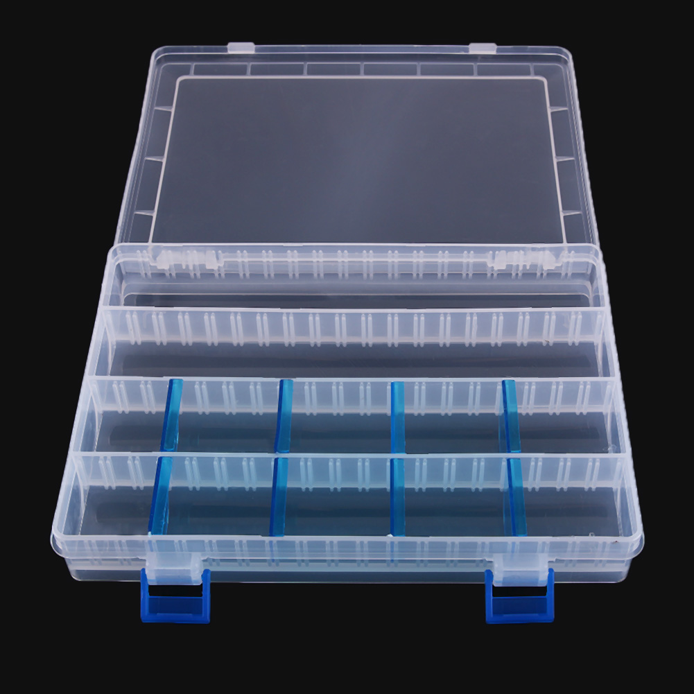 Lightweight Blue Plug-in Pieces Multi-functional Fishing Tackle Box 255 X 195 X 42mm Eco-friendly Fishing Tool Storage Case