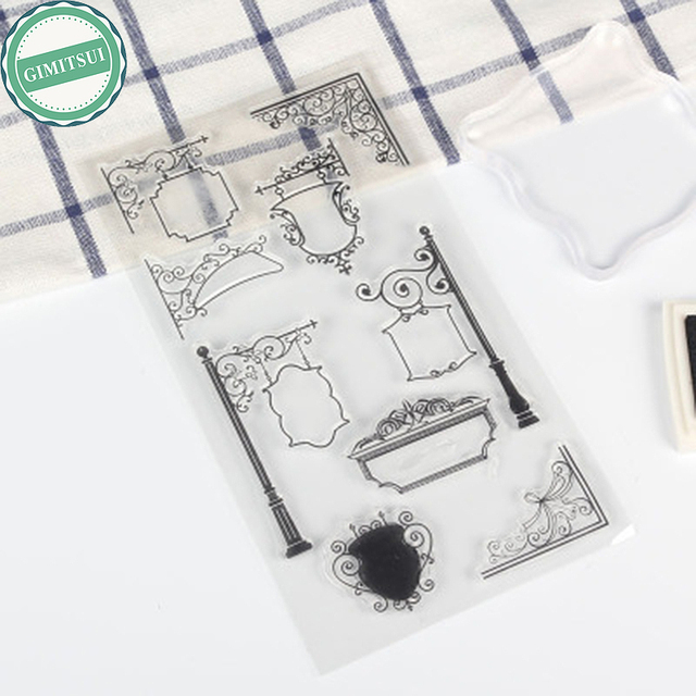europe street sign diy silicone rubber clear stamp seal sheet corner scrapbooking diary note card making
