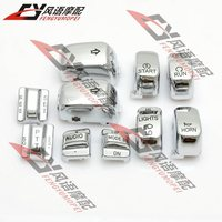 ABS Chrome Hand Controls Switch Housing Buttons Caps Cover For Harley Davidson Touring Electra Tri Ultra