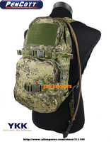 TMC Modular Assault Pack W/3L Hydration Bladder PenCott GreenZone MOLLE Military Hydration Backpack+Free shipping(SKU12050044)