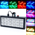 Mini DMX Sound control 18 RGB LED Strobe Grille Light Disco Party Bar DJ Entertainment Light Show Projector Stage Lighting