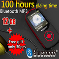 RUI ZU X06  Bluetooth MP3 Player with 12 GB storage and 1.8 Inch Screen 100h Sports MP3 player high quality lossless Recorder