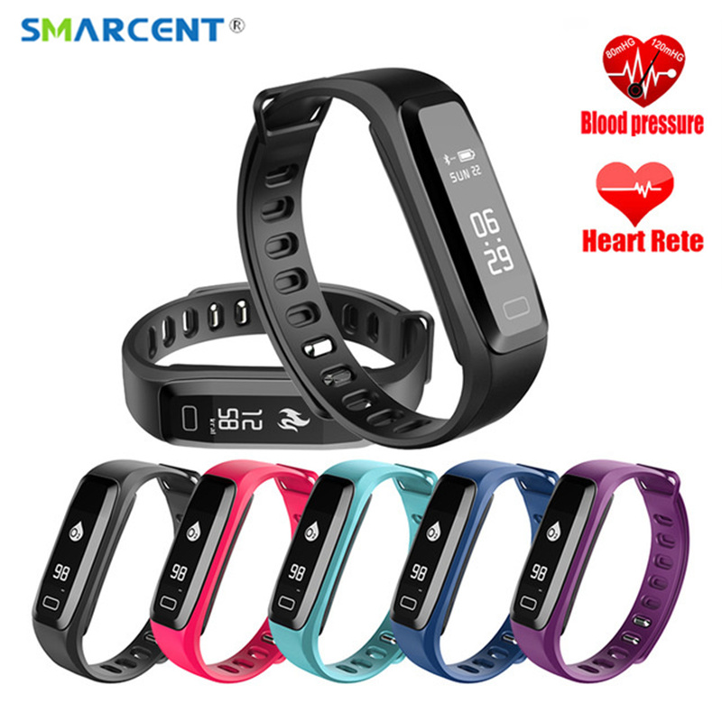 SMARCENT G15 Smart Band Blood Pressure Heart Rate Monitor Fitness Tracker Sports Smart Fitness Bracelet Watch