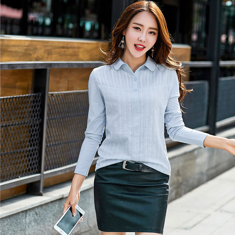 Long Sleeve Shirt Women Blouses Cotton Shirts Blusas Mujer De Moda 2019 Plus Size Women Blouse Casual Ladies Tops Chemise Femme