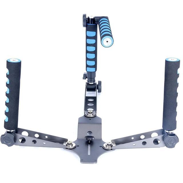 נייד רב תכליתי ידיות/סוגר מתקפל כתף Rig הר DSLR מצלמה/וידאו מצלמה מייצב עבור Canon סוני ניקון