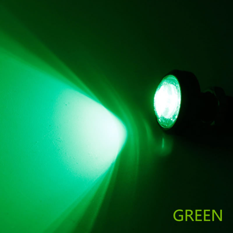 "Green LED BOAT PLUG LIGHT GARBOARD BRASS DRAIN 3//4/"" NPT MARINE UNDERWATER FISH"