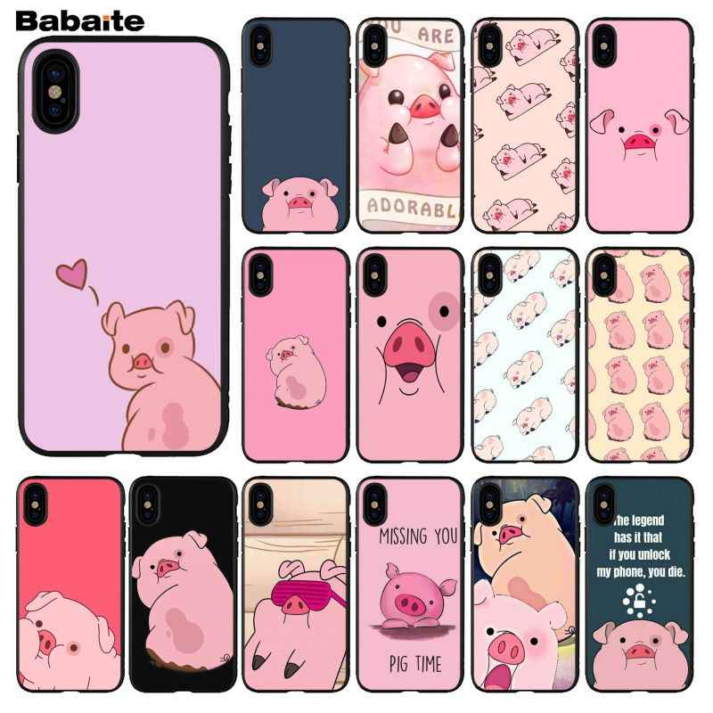 Babaite Cartoon Anime Gravity Falls pig Coque Shell Phone Case for iPhone 5 5S SE 6 6s 7 7plus 8 8Plus XRX XS MAX cover