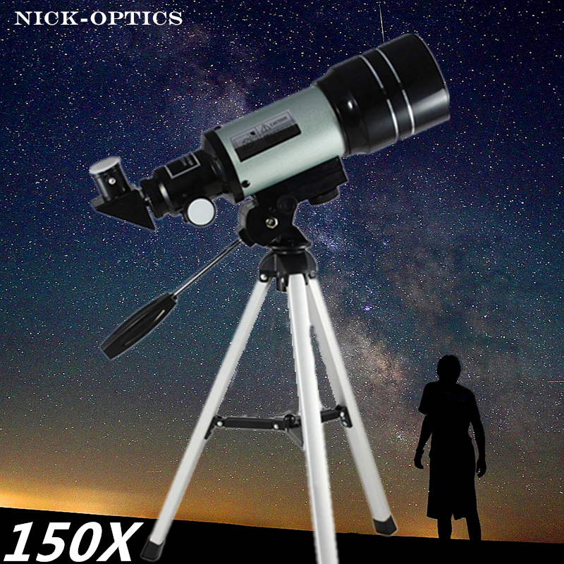 F300 70mm Optical Telescope 150x Professional Astronomical Refracting Telescope HD Astronomical Jumelles Zoom scope for science
